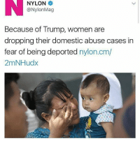 """Memes, 🤖, and Graves: NYLON  @Nylon Mag  Because of rump, Women are  dropping their domestic abuse cases in  fear of being deported  nylon.cm/  2mNHudx The Trump administration's talk of cracking down on undocumented immigrants has frightened many people living in the country illegally. And it has deterred some domestic abuses victims from appearing in court for fear they'll be spotted by agents from Immigration and Customs Enforcement, says Denver City Attorney Kristin Bronson. Bronson tells NPR's Rachel Martin that four women — victims of what Bronson calls physical and violent assault — have not pursued cases. """"We had pending cases that we were prosecuting on their behalf and since January 25, the date of the president's executive order [on immigration], those four women have let our office know they were not willing to proceed with the case for fear that they would be spotted in the courthouse and deported,"""" Bronson says. She says the fear comes from a video taken last month that shows ICE officers waiting to make an arrest at a Denver courthouse. The video, she says, """"unfortunately has resulted in a high degree of fear and anxiety in our - immigrant communities, and as a result, we have grave concerns here that they distrust the court system now and that we're not going to have continued cooperation of victims and witnesses."""""""