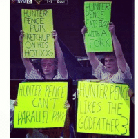 NYMIO  1-1  OOUT  H INTER  HUNTER  PENCE  NITH A  FOR  ON HIS  HOTDOG  CAN 1 KES THE Mets fans trolling Hunter Pence is the best!