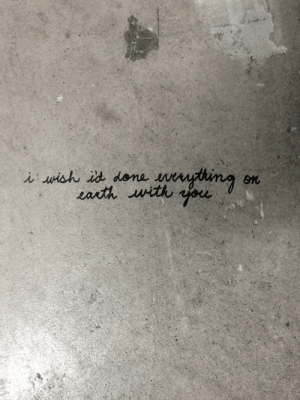 nyrma:  someone wrote this on the floor of our auditorium: nyrma:  someone wrote this on the floor of our auditorium