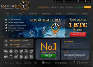 meme-mage:  Greatest Gambling Site Ever!!http://bit.ly/1CSZeM7: O 09:50 23/ 02/ 2015  Support A English  Online: 105  FORTUNEJACK  BTCPROFITGROUP | MESSAGES 0 | BALANCE|  MY ACCOUNT  | QUICK DEPOSIT  LOGOUT  LIVE CRYPTOCURRENCY CASINO  AFFILIATE  НOME  GAMES  LEADERBOARD  PROVABLY FAIR  PROMOTIONS  ABOUT US  Get up to  NEW AFFILIATE TERMS  . 20 - 40% Profit Share  O On Time Monthly Payments  1 BTC  In Depth Performance Reports,  Unlimited Earning Potential  Bonus  E No Negative Balance Carryover  DEPOSIT NOw  TOTAL JACKPOTS 9.30410847  Binary Trader  No.1  60 second to 1 Day Binary Trading with  authorized source.  <(B>  TOTAL WAGERED 67,019.2493  50,703,914  # OF BETS  Play Now  ilil  FOR LOTTERY GAMES  TEAM  Operated by Professional Team. With 20  years of experience in gambling industry.  ?  PLAY NOW  +170  Ш  YES / NO  Bitcoin o  Foundation  M MCAfee  SECURE  GODADDY  A VERIFIED & SECURED  O Best Online  Customer Support  Safe &  Secured  18+  barchart  euro pe-bet.com  ÖFFICIAL PARTNER  Silver Member  VERIFY SECURITY meme-mage:  Greatest Gambling Site Ever!!http://bit.ly/1CSZeM7