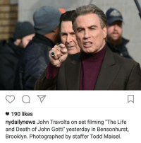 "John Gotti was gehy?: o 190 likes  nydaily news John Travolta on set filming ""The Life  and Death of John Gotti"" yesterday in Bensonhurst  Brooklyn. Photographed by staffer Todd Maisel John Gotti was gehy?"