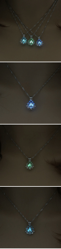 Family, Friends, and Tumblr: o  ,  2 saltycaffeine:  The Lotus is a symbol of purity, rebirth and divinity. This glow in the dark Lotus Necklace will make a great gift for your Friends, family and special someone! USE CODE: LOTUS FOR A DISCOUNT = GET IT HERE =