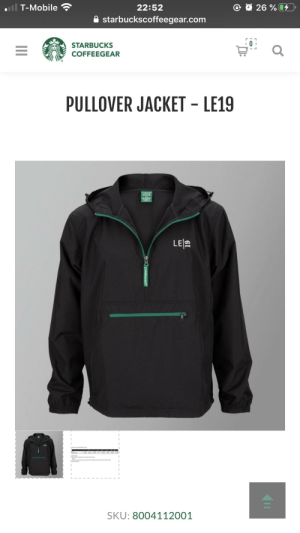 does anyone know if this is TTS (true to size) like if i'm a medium in most jackets, will this fit in a medium or do i need to get a size bigger/smaller? (also does this have a hoodie?): O 26 %  T-Mobile  22:52  A starbuckscoffeegear.com  STARBUCKS  COFFEEGEAR  PULLOVER JACKET - LE19  LE 2  SKU: 8004112001  CSTARBUCKS®  II does anyone know if this is TTS (true to size) like if i'm a medium in most jackets, will this fit in a medium or do i need to get a size bigger/smaller? (also does this have a hoodie?)