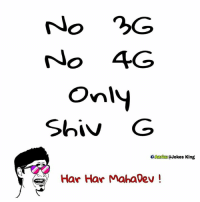 Memes, 🤖, and King: o 3G  No 4G  Only  Shiv G  Aadm@Jokes King  Har Har Mahadev ! Happy Maha Shiv Ratri 😍