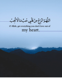 Love, Memes, and Heart: O Allah, get everything you don't love out of  my heart  41 O Allah, Remove From My Heart The Love Of Everything Not Beloved To You.