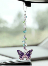 Beautiful, Cars, and Dank: O)  e)  e  G Beautiful! This delightful Butterfly Glass Bead Car Charm is on sale today at The Breast Cancer Site. Purchases fund mammograms, research & care for women in need!  ★ORDER NOW★ http://po.st/Kvzuq8