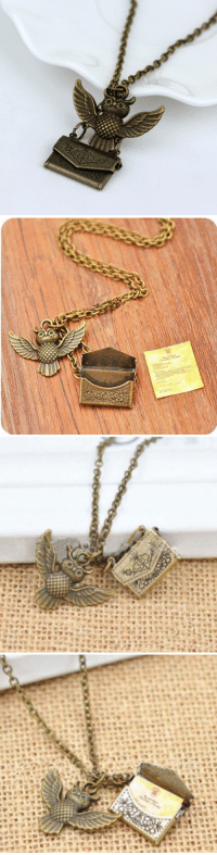 hellosaladd: Unique Owl Post with Acceptance Letter Pendant Locket Necklace. The Perfect Holiday Gift for your Friends and Family! = GET YOURS HERE = : :O  ENY hellosaladd: Unique Owl Post with Acceptance Letter Pendant Locket Necklace. The Perfect Holiday Gift for your Friends and Family! = GET YOURS HERE =