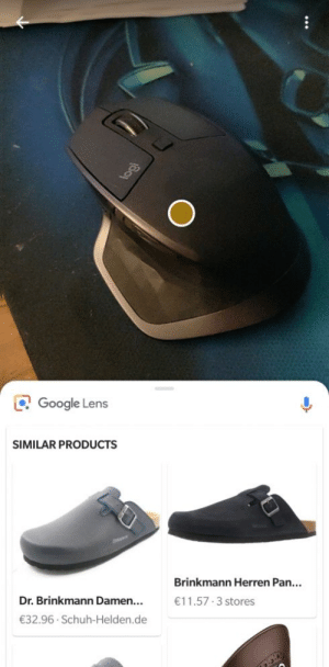 Guys, I think we still have a few years until AI takes over: O Google Lens  SIMILAR PRODUCTS  Brinkmann Herren Pan...  Dr. Brinkmann Damen...  €11.57 3 stores  €32.96 · Schuh-Helden.de Guys, I think we still have a few years until AI takes over