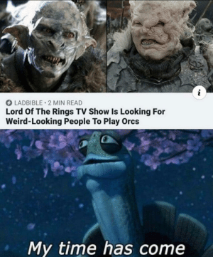 meirl: O LADBIBLE • 2 MIN READ  Lord Of The Rings TV Show Is Looking For  Weird-Looking People To Play Orcs  My time has come meirl