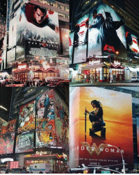 The DCEU in Times Square.  (Simi): O M A  URE of JUSTICE NEGINS w ITH HER  UNE 2 The DCEU in Times Square.  (Simi)