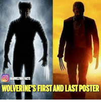 Memes, 🤖, and Via: O MARVELTRUEFACTS  WOLVERINE'S FIRSTAND LAST POSTER Via @marveltruefacts