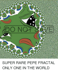 Dank, World, and Pepe  O N SUPER RARE PEPE FRACTAL ONLY ONE IN THE WORLD 65bc06775cf5