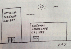 Funny, Via, and National Portrait Gallery: o.  NATIONAL  PORTRAIT  GALLERY  NAIONAL  LANDSCAPE  GALLERY Gallery orientation.. via /r/funny https://ift.tt/2Dfk2TY
