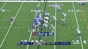 THANKSGIVING TRICKERY!  John Brown's first NFL pass goes for SIX to @motorsingletary! #GoBills  📺: #BUFvsDAL on CBS 📱: NFL app // Yahoo Sports app Watch free on mobile: https://t.co/EutPg1XriR https://t.co/J9b1YzilUQ: O NFL  1ST& 10  2  DAL  (6-5)  BUF  7  2ND 2:00 14  1ST & 10  (8-3) THANKSGIVING TRICKERY!  John Brown's first NFL pass goes for SIX to @motorsingletary! #GoBills  📺: #BUFvsDAL on CBS 📱: NFL app // Yahoo Sports app Watch free on mobile: https://t.co/EutPg1XriR https://t.co/J9b1YzilUQ