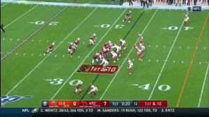 Kyler Murray really does run like a bad ass toddler that just broke something! 😂 (@DA__LANDL0RD) https://t.co/06NZvwLyNN: O NFL  1ST&10  * CLE  16-7)  ARZ  (3-9-1)  1ST 0:20 12  1ST & 10  Z. ERTZ:  C. WENTZ: 30/43, 266 YDS, 3 TD  M. SANDERS: 19 RUSH, 122 YDS, TD  NFL Kyler Murray really does run like a bad ass toddler that just broke something! 😂 (@DA__LANDL0RD) https://t.co/06NZvwLyNN