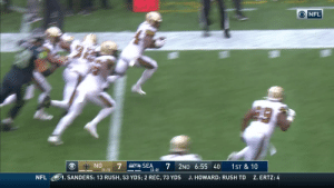 It's a @Saints scoop and score in Seattle! #NOvsSEA  ?: CBS ?: NFL app // Yahoo Sports app Watch on mobile: https://t.co/qnNxI5gZ8j https://t.co/35PsRDBkG9: O NFL  7  7  SEA  NO  2ND 6:55 40  1ST & 10  (2-0)  (1-1)  NFL  J.HOWARD: RUSH TD  Z. ERTZ: 4  1. SANDERS: 13 RUSH, 53 YDS; 2 REC, 73 YDS It's a @Saints scoop and score in Seattle! #NOvsSEA  ?: CBS ?: NFL app // Yahoo Sports app Watch on mobile: https://t.co/qnNxI5gZ8j https://t.co/35PsRDBkG9