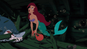 Ariel, Family, and Gif: O  O animentality: itswalky:  gradlifethrugifs:  pureimagineering:  Here's one of the reasons I don't buy the cynical interpretation that Ariel gives up her identity for a man.   This screencap comes from her introductory scene.  She's searching through a shipwreck for human artifacts–which is her passion–when suddenly she's attacked by a shark.   While fleeing, she accidentally drops her bag full of artifacts right in the shark's path.  Without hesitating, she chooses her passion over her safety, risking her life for a dinglehopper.   The girl is an anthropologist who studies humans.  That's her passion, that's how she spends her time…that's her identity.   Sure, Eric is the catalyst that leads Ariel to changing her species and leaving her family–he certainly intensifies her feelings–but they're feelings she already has, and they dictate most of her life.   If Ariel had the chance to become a human before she met Eric, everything that we know about her suggests that she probably would.    Ariel is an anthropologist, I stand by this  Triton: Fuck your passion!Ariel: okay   it took me a second to understand the brilliance of that last reblog
