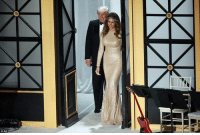 President elect Trump and the future First Lady attend a pre-inauguration dinner: o  O AP President elect Trump and the future First Lady attend a pre-inauguration dinner