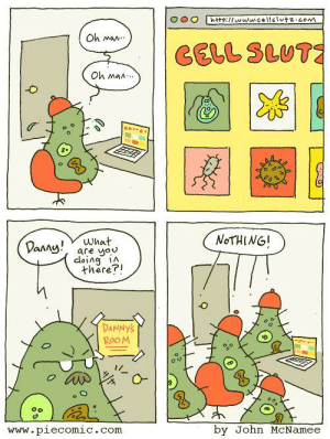 Omg, Tumblr, and Asexual: O o eiflwww.celelutz.com  Oh man  CELL SLut  Oh man.  -O  oっ  NoTHING!  an are you  cloina iA  there?!  DANNYS  Roo M  www.plecomic.com  by John McNamee omg-images:  Asexual Awakening