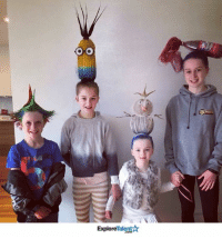 The competition during Crazy Hair Day at school is getting fierce! These kids look awesome 👏: O O  Talent  Explore The competition during Crazy Hair Day at school is getting fierce! These kids look awesome 👏