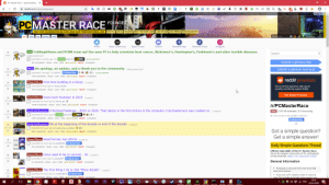 An Underrated Power Of The PCMR - Chrome Extensions (I May Have A Problem): O PC Master Race - Spearheading t X  A reddit.com/r/pcmasterrace/  Om  all - random - friends - mod- users  ilearned  unpopularopinion - jokes - explainlikeimfive - whatcouldgowrong - watchpeopledieinside - videos - askscience - mildlyinteresti  lifeprotips-tifu  askreddit  ughts - gifs  edit »  GET NEW REDDIT  GLORIQUS  PCMASTER RACE FOUNDED  2011  WHY PC? BUILDS HISTORY MEET THE PCMR TEAM FLAIR FILTERS HIDE MEMES HIDE PEASANTRY  MAY OUR FRAMERATES BE HIGH AND OUR TEMPERATURES LOW  IED  Shadow_Eater (1,157) |  hot I new top gilded wiki  preferences logout  f  Instagram  Twitter  Steam Community  Steam Curator  Discord  Facebook Page  Facebook Group  PSA Folding@Home and PCMR team up! Use your PC to help scientists beat cancer, Alzheimer's, Huntington's, Parkinson's and other terrible diseases.  search  866  (self.pcmasterrace)  months ago * by  Creator pedro19 PCMR  submitted  announcement  Submit a glorious link  99 comments share save hide give award report crosspost  Story An apology, an update, and a thank you to the community (self.pemasterrace)  Submit a glorious text post  3884  O 3 3 3 9 - announcement  E submitted 1 day ago * by tu8ilo7  PC Master Race  140 comments share save hide give award report crosspost  reddit premium  Meme/Macro First time building is a doozy (i.redd.it)  8551  Get an ad-free experience with special  benefits, and directly support Reddit.  submitted 4 hours ago by Vayne_Solidor  443 comments share save hide give award report crosspost  Get Reddit Premium  Meme/Macro Every tech Youtuber in 2019 (i.redd.it)  36.5k  submitted 13 hours ago by dimmy_69 3  1536 comments share save hide give award report crosspost  Ir/PCMasterRace  Build/Battlestation #TenYearChallenge - 2010 vs 2020. That laptop in the first picture is the computer /r/pcmasterrace was created on. (i.redd.it)  submitted 10 hours ago by Creator pedro19 PCMR E 22 3 3  leave 3,155,192 Ascended | 10,1