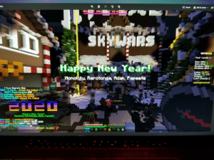 Happy Minecraft New Year from Rarotonga: O Search  X Edit & Create v6  HOLID SALE - UP TO 85% OFF  SKYWARS  SKYHARS  Your Level: 3-  Solo Kills: 1  Solo Hins: 0  Doubles Kills: 37  Doubles Wins: 6  Happy Neu Tear!  Coins: 91,787  Souls: 79/100  Tokens: 0  Loot Chests: 2  Honolulu, Rarotonga, Adak, Papeete  WWw.hypixel.net  yF4se there's this  DINP++3 Yerin_ joined the lobby!  DNFI SuPPressible OfNG  sunkang joined the lobby!  Mulkyllay joined the lobby  P-1 Flipperuk99 joined the lobby!  CLEK EL SPEE  lo-ai  CK Tn PIAY  TAPIO  n Aed  CICK TO PL  TLLIN CLEF  1 Plauers  rlager  CHUP  DaBo CNEWOME)  80  80  80  88  88  88 88  88  80  00  CLICK FOR 3ATS  SoloChristnas LOTHUSO]  222222  2.  222222  222222  TERS RSC  88  890808 22222 000008  FLAYHIZI  Happy Heu Tear!  Honolulu, Rarotonga, fidak, Fapeete  83 OUP 1 SOMANYCHEATERS: gg  5a1 DUP 1 Dreans HAPPY HEA YEAR  UP 1StevenR8: HAPPY NEW TEAR  1S0 0WP+1 SoloChristnas 99  ShpoNare LEGIT J  yetery Vaut  RIGHT CLICK  30 Happy Minecraft New Year from Rarotonga