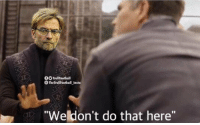 "Memes, Liverpool F.C., and 🤖: O TrollFootball  The TrollFootball Insta  Weldon't do that here"" Allison: ""I joined Liverpool to win trophies.""   Klopp: https://t.co/XyomxLq5pU"
