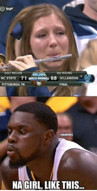 Lance Stephenson showing them how to play a flute! Credit: Braven Kerbie Fernandez: O true  EAST REGION  RD ROUND  NC STATE 71 CHMADNLs 68 VILLANOVA  PITTSBURGH, PA  FINAL  ONBAMEMES  NA GIRL LIKE THIS Lance Stephenson showing them how to play a flute! Credit: Braven Kerbie Fernandez
