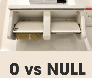 Know the difference: O vs NULL Know the difference