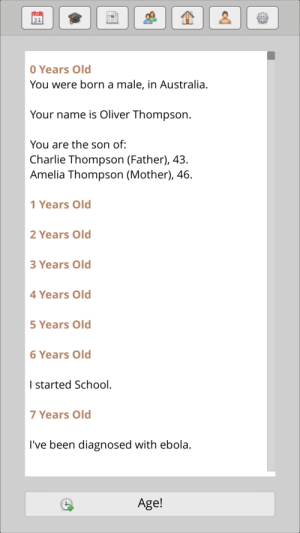 Charlie, Dank, and Memes: O Years Old  You were born a male, in Australia.  Your name is oliver Thompson.  You are the son of:  Charlie Thompson (Father), 43.  Amelia Thompson (Mother), 46  1 Years Old  2 Years Old  3 Years Old  4 Years Old  5 Years Old  6 Years Old  I started School.  7 Years Old  I've been diagnosed with ebola.  Age! me irl by Burritosmeller FOLLOW 4 MORE MEMES.