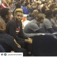 A heckler let Trail Blazers G Allen Crabbe hear it for having an Odell Beckham Jr.-like hairstyle 💀 (via @youloverichard, h-t @chrissceja_ and @houseofhighlights): O youloverichard A heckler let Trail Blazers G Allen Crabbe hear it for having an Odell Beckham Jr.-like hairstyle 💀 (via @youloverichard, h-t @chrissceja_ and @houseofhighlights)
