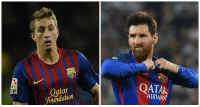 BREAKING: Lionel Messi announces he wants to join PSG too to get out of Gerard Deulofeu's shadow after the winger assisted twice today. https://t.co/XfnIjIjRPe: Oatar  Foundation  QATAR  AIRWAY  FP BREAKING: Lionel Messi announces he wants to join PSG too to get out of Gerard Deulofeu's shadow after the winger assisted twice today. https://t.co/XfnIjIjRPe
