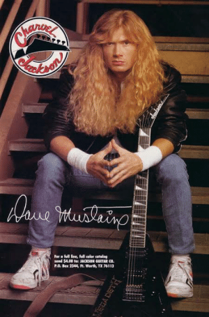 Metallica, Guitar, and Kids: Oawe imunleino  For a full line, full color catalog  send $4.00 to: JACKSON GUITAR CO.  P.O. Box 2344, Ft. Worth, TX 76113  MEGA DETH I'm gonna tell my kids this redhead founded Metallica