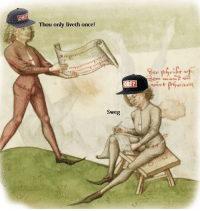 Medieval posers: OB  Thou only liveth once!  OBEY  Sweg Medieval posers