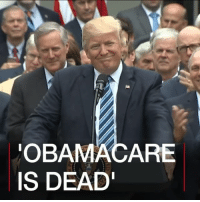 "Donald Trump, Memes, and Obama: OBAMA CARE  IS DEAD' 5 MAY: President Donald Trump has declared Obamacare ""dead"" after the Republican healthcare bill was narrowly passed by the lower chamber of Congress. The president says his plan to repeal and replace the legislation will help millions – but what will change if the new bill passes? Find out more about the Trump health bill: bbc.in-trumpcare POTUS Trump Obamacare Trumpcare Health ACA Healthcare BBCShorts BBCNews @BBCNews"