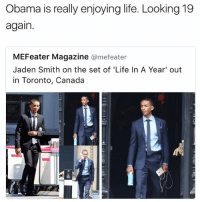 Tapping into that fountain of youth 😂 - - 🚨 FOLLOW: @whypree_tho_vip & @whypree_tv ⚠️ for more 🆘🔥‼️: Obama is really enjoying life. Looking 19  again.  MEFeater Magazine  @mefeater  Jaden Smith on the set of 'Life In A Year' out  in Toronto, Canada Tapping into that fountain of youth 😂 - - 🚨 FOLLOW: @whypree_tho_vip & @whypree_tv ⚠️ for more 🆘🔥‼️