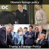 Memes, 🤖, and Policy: Obama's foreign policy  DC  T rump s Foreign Policy (WR) rekt