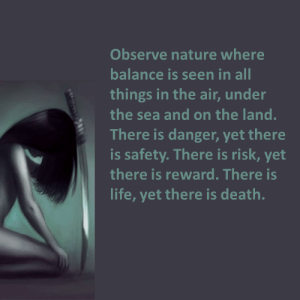 Life, Tumblr, and Blog: Observe nature where  balance is seen in all  things in the air, under  the sea and on the land.  There is danger, yet there  is safety. There is risk, yet  there is reward. There is  life, yet there is death. eclecticirony:    Eclectic Irony Strong Women