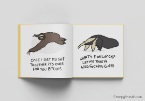 [oc] after 100 days of drawing a grumpy animal every single day, amazon published them all in my first ever book this week: [oc] after 100 days of drawing a grumpy animal every single day, amazon published them all in my first ever book this week