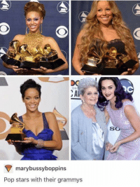 Appreciate family: OC  SO  marybussyboppins  Pop stars with their grammys Appreciate family