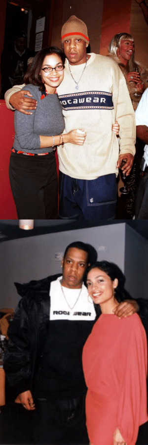 """aintnojigga:  Jay-Z and his girlfriend of three years, Rosario Dawson. Hov and Dawson dated from 1997 to 2000, andsomeeven say that they were set to have a child together until she miscarried before their break-up. As with anything in Jay's private life it is unconfirmed, but Hov did speak on the subject of how he was going to soon become a father on his protege Amil's song4 Da Famin early 2000; and then expressed his grief over a miscarriage in his own songThis Can't Be Lifelater that year. In a Vibe magazine cover interview in November 2000 the article explains""""Yes, he did have a child on the way as he rapped on Amil's '4 Da Fam', but he stops short of giving a reason why that's no longer the case."""" Kingdom Come'sLost One appeared to allude to his relationship with Dawson, but in Decoded it was cleared that Jay was talking about Beyonce. Many years later in his book Decoded Jay also told readers that the verse onTCBLwas actually about his first girlfriend whomiscarried backin 1994.: ocaweaR aintnojigga:  Jay-Z and his girlfriend of three years, Rosario Dawson. Hov and Dawson dated from 1997 to 2000, andsomeeven say that they were set to have a child together until she miscarried before their break-up. As with anything in Jay's private life it is unconfirmed, but Hov did speak on the subject of how he was going to soon become a father on his protege Amil's song4 Da Famin early 2000; and then expressed his grief over a miscarriage in his own songThis Can't Be Lifelater that year. In a Vibe magazine cover interview in November 2000 the article explains""""Yes, he did have a child on the way as he rapped on Amil's '4 Da Fam', but he stops short of giving a reason why that's no longer the case."""" Kingdom Come'sLost One appeared to allude to his relationship with Dawson, but in Decoded it was cleared that Jay was talking about Beyonce. Many years later in his book Decoded Jay also told readers that the verse onTCBLwas actually about his first girlfriend whomiscarried backin"""
