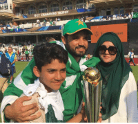 Azhar Ali with his family after winning the Champions Trophy.: occ CHAMPIONS TROPHY  quot Azhar Ali with his family after winning the Champions Trophy.