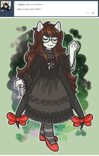 Gif, Target, and Tumblr: oct2pus said to drawthiere:  jade w/ even more frills? drawthiere:  i dont know how 2 draw detailed clothing send help process gif under the cut if you're interested! Keep reading