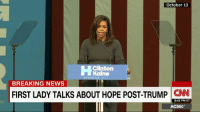 """The """"angry black woman"""" label that Michelle Obama has been tagged with by some is a caricature rooted in other people's fears.: October 13  Clinton  Kaine  BREAKING NEWS  FIRST LADY TALKS ABOUT HOPE POST-TRUMP  CNNU  8:42 PM ET  AC360° The """"angry black woman"""" label that Michelle Obama has been tagged with by some is a caricature rooted in other people's fears."""