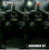 Memes, Arrow, and Justice League: OCTOBER 31ST  ejustice league memes  NOVEMBER 1ST Makeshift Santa hat is makeshift. ~Green Arrow