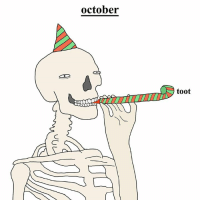 october  toot lets get spooky. love from your friend Chris (Simpsons artist) xox