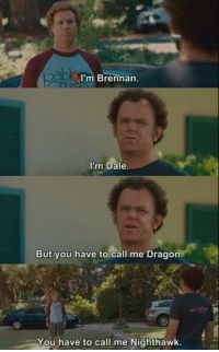 Memes, Step Brothers, and Dragons: OD I'm Brennan  I'm Dale  But you have to call me Dragon  You have to call me Nighthawk. Step Brothers