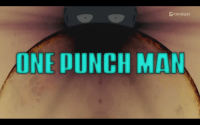 This appears for a single frame in One Punch Man's intro [Take a wild guess]: ODAISUKI  ONE PUNCH MAN This appears for a single frame in One Punch Man's intro [Take a wild guess]