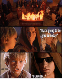"Foreshadowing burn... literally. 😂 Only true StarWars fans will get it... or if you've had the misfortune of watching all the prequels. Lol -- Top edit via @theforceawakensdaily with the bottom panels added by me.: ODD ODD  IGI THEFORCEAWAKENSDAILY  What's going to be  you someday""  ""BURNED..."" Foreshadowing burn... literally. 😂 Only true StarWars fans will get it... or if you've had the misfortune of watching all the prequels. Lol -- Top edit via @theforceawakensdaily with the bottom panels added by me."