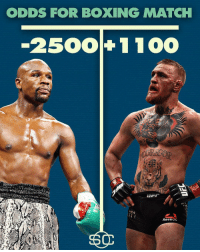 "Repost @sportscenter: ""After ConorMcGregor got his boxing license in California Wednesday, Westgate has opened odds for a Mayweather - McGregor boxing match."" 👀👊 WSHH: ODDS FOR BOXING MATCH  2500 1 100  ReeDun Repost @sportscenter: ""After ConorMcGregor got his boxing license in California Wednesday, Westgate has opened odds for a Mayweather - McGregor boxing match."" 👀👊 WSHH"